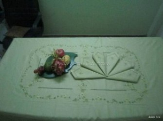 Bộ khăn trải bàn hoa hồng xanh - MS 001