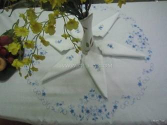 Bộ khăn trải bàn hoa xanh - MS 004